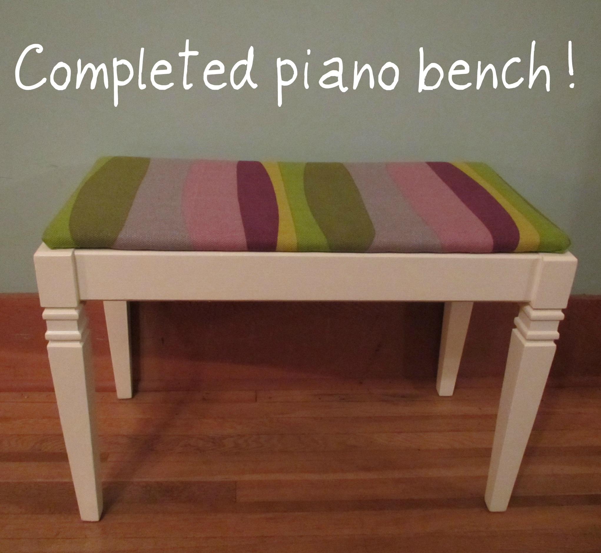 completed piano bench