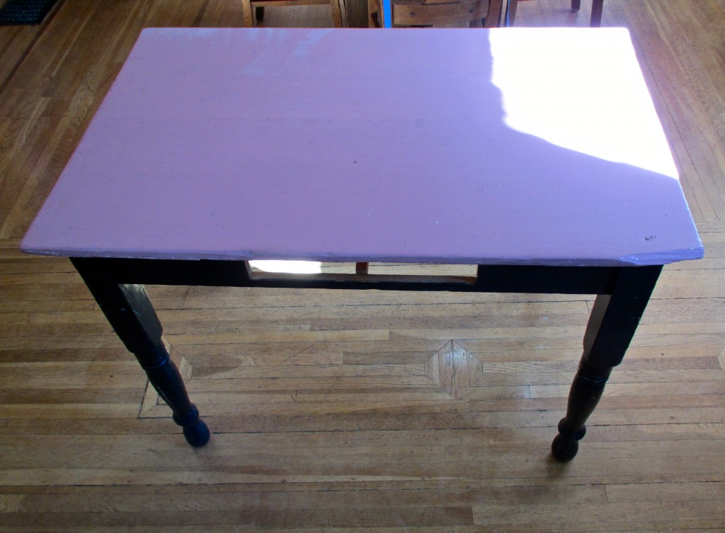 Purple desk