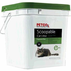 Scoopable cat litter