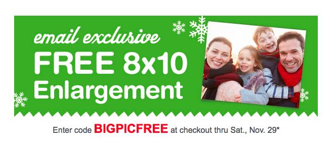 Walgreens free 8 X 10