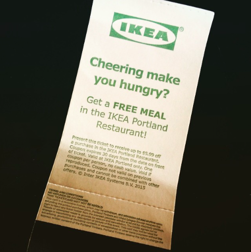 Free Ikea meal coupon