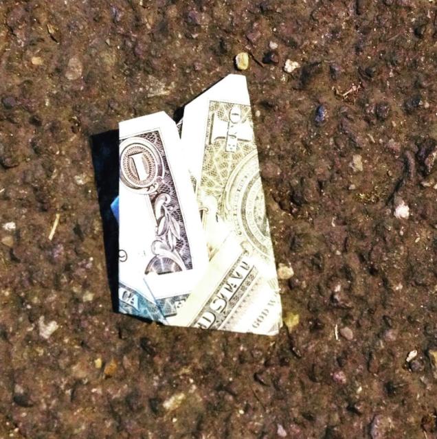 Found dollar bill