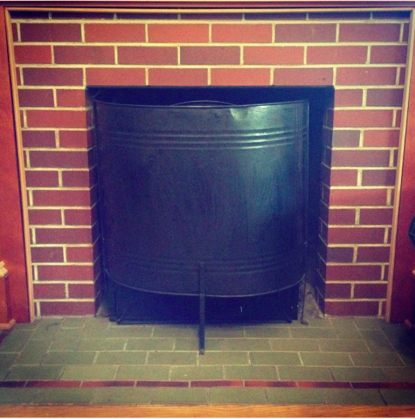 Dumpster dove fireplace screen