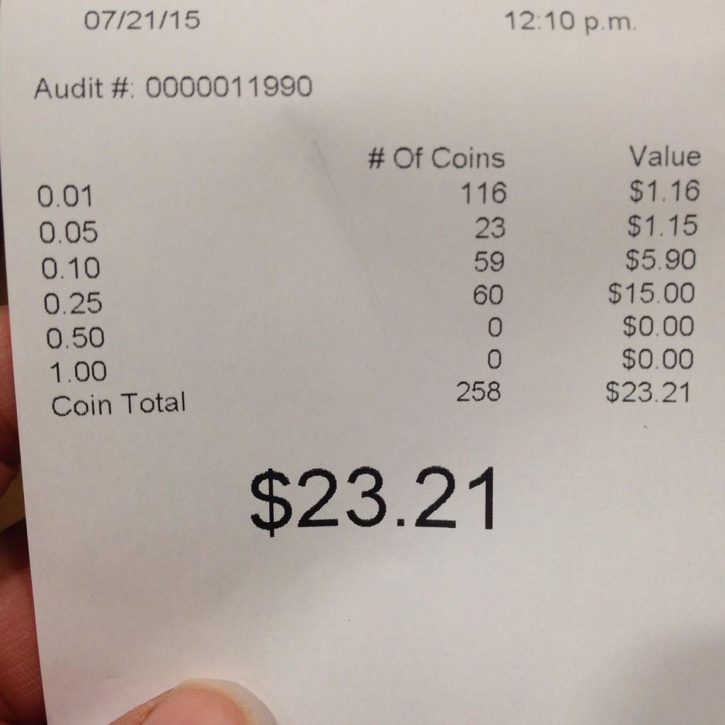 Coin receipt #2