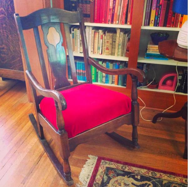 Curbside rocking chair