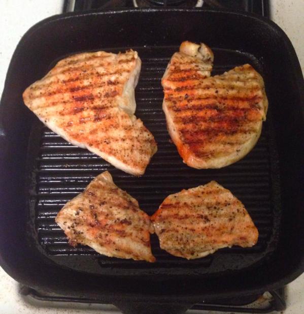 Grill pan cast iron