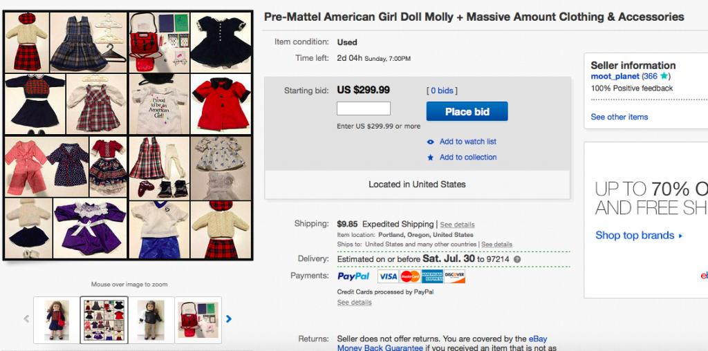 eBay American Girl doll