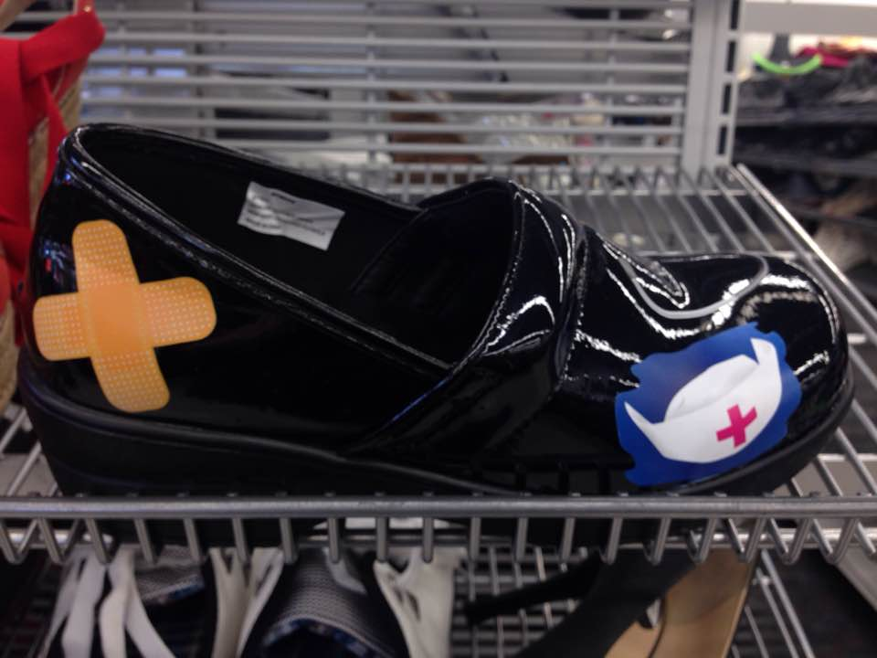 World's ugliest nurse's shoes