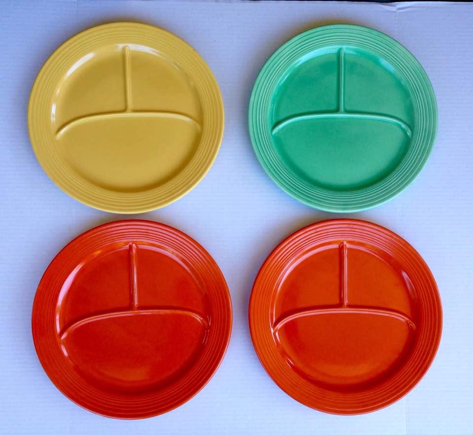 Fiestaware divided plates