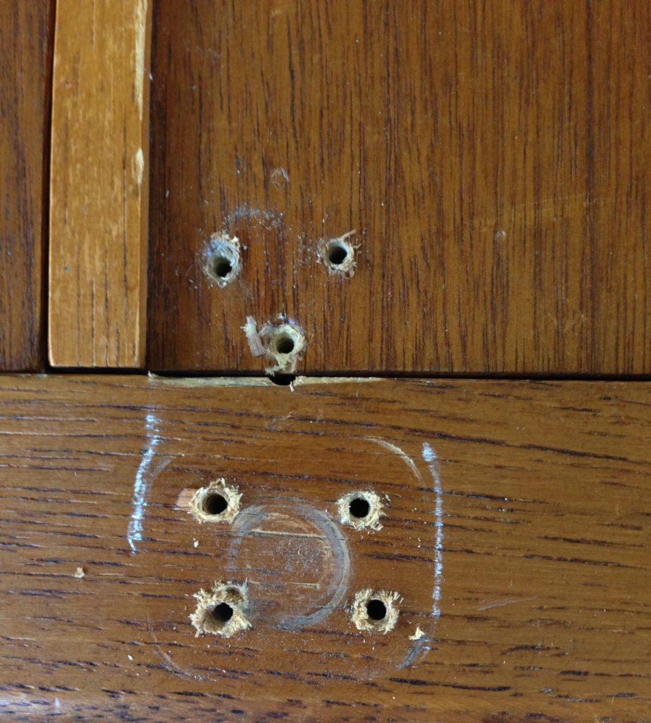 wood holes