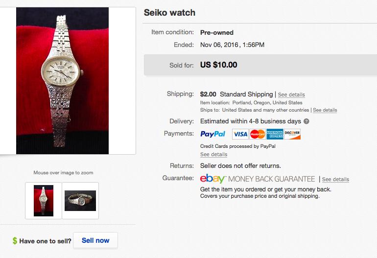eBay watch